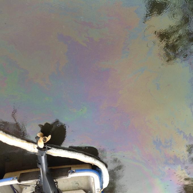 Bootsunfall Alster Öl